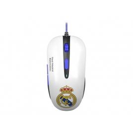 Mouse Mars Gaming Diseño Real Madrid Mmrm Optico 3200DPI 6 Botones Black